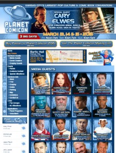 Planet Comicon website
